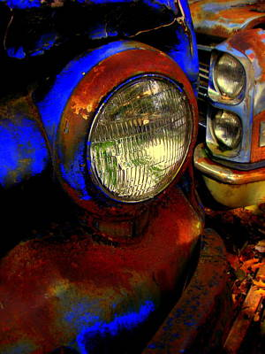 Wall Art - Digital Art - Rust Bucket Headlight by Mickey Murphy