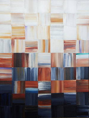 Painting - Rust Checkered by Shiela Gosselin