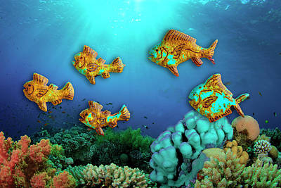 Photograph - Rust Fish by Paul Wear