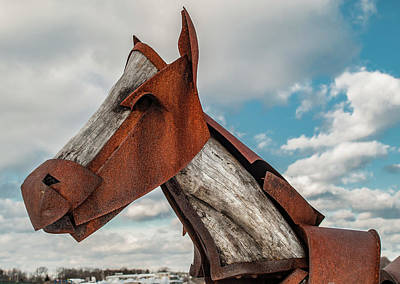 Photograph - Rust Horse 2 by Rick Mosher