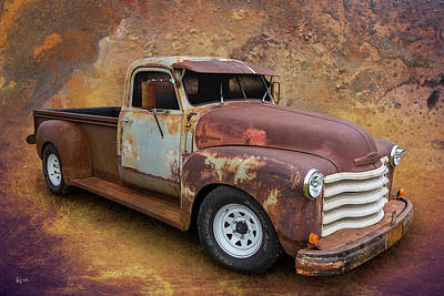 Chev Pickup Photograph - Rust Is Beautiful by Keith Hawley