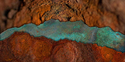 Digital Art - Rust Lanscape 2 by WB Johnston