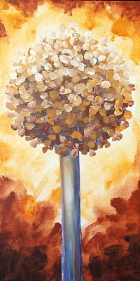 Painting - Rust Lollipop Tree by Shiela Gosselin