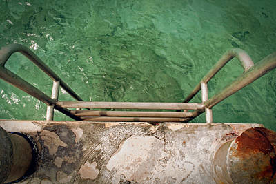Swim Ladder Photograph - Rust 'n Ladder by Brian Davis