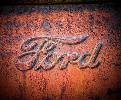 Photograph - Rust Never Sleeps - Ford by TL Mair