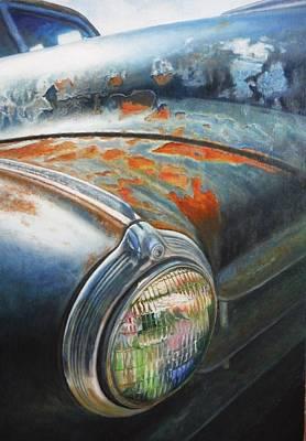 Rust Never Sleeps Art Print by Joan Florido