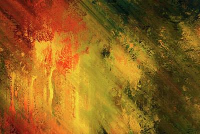Rust Art Mixed Media - Rust Of Life Abstract Wall Art by Georgiana Romanovna