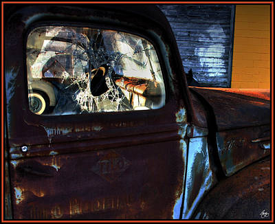 Photograph - Rust On Blue by Wayne King