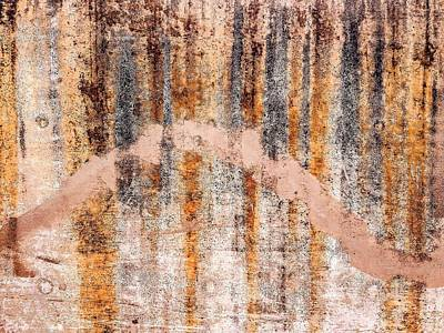 Digital Art - Rust On Concrete by William Braddock