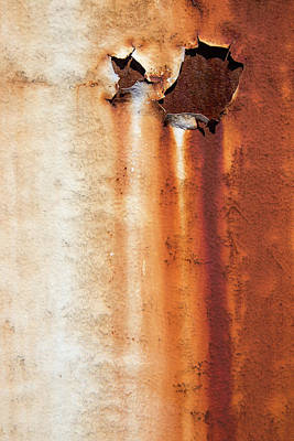 Photograph - Rust On White by Karol Livote