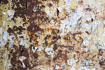 Rust Paper Texture Art Print by John Williams
