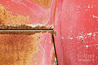 Photograph - Rust Red And Peeling Paint by Glennis Siverson