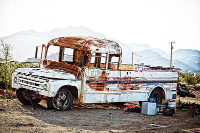 Photograph - Rusted Abandoned Truck by Tatiana Travelways