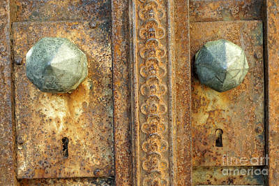 Photograph - Rusted Antique Locks by John  Mitchell