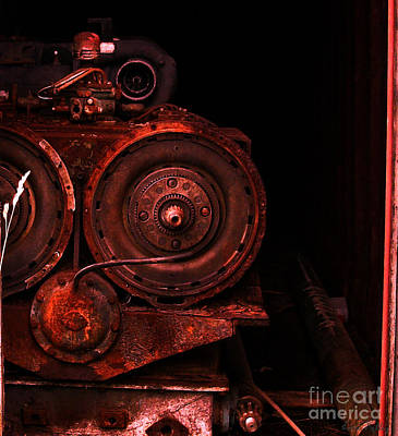 Photograph - Rusted Antique Machinery by Lita Kelley