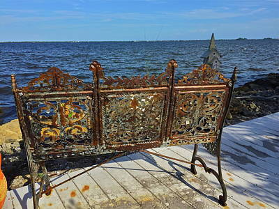 Photograph - Rusted Bench by Denise Mazzocco