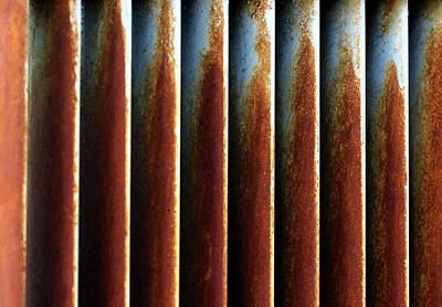 Photograph - Rusted Blinds Of A Water Cooler by Prakash Ghai