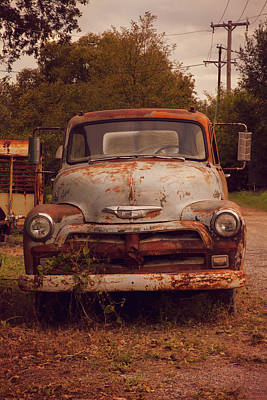 Photograph - Rusted Chevy Pickup Truck by Toni Hopper