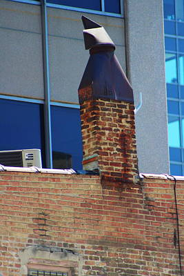 Photograph - Rusted Chimney On Old Brick Building by Colleen Cornelius