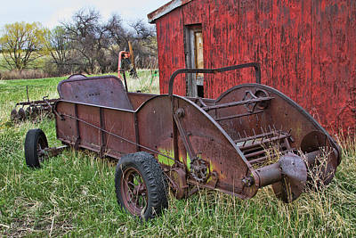 Photograph - Rusted Deere by Alana Thrower
