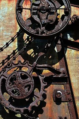 Technical Photograph - Rusted Gears 2.0 by Michelle Calkins