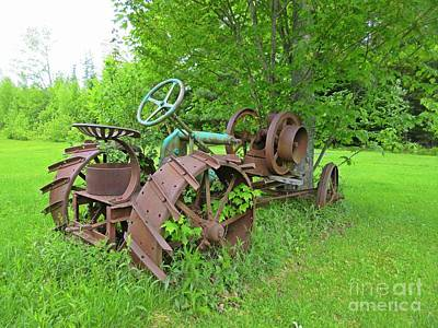Rusted Machinery In Field Original by Crystal Loppie