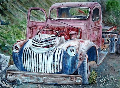 Rusted Memories 22x 30 Original by Shirley Sykes Bracken