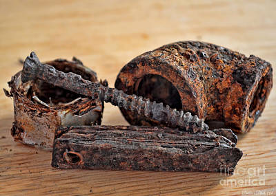 Rusted Odds And Ends 1 Art Print by Debbie Portwood