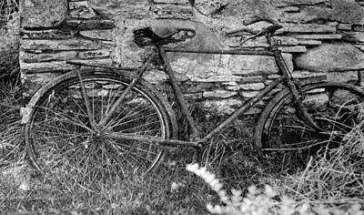 Potato Digital Art - Rusted Old Bike - County Sligo Ireland by Bill Cannon