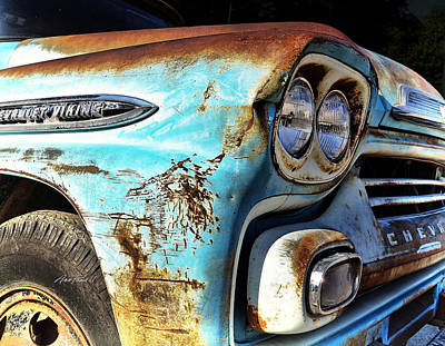 Photograph - Rusted Old Chevy Truck - Photography by Ann Powell