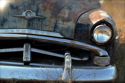 Photograph - Rusted Out Plymouth by Heidi Hermes
