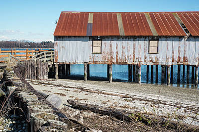 Photograph - Rusted Roof At Semiahmoo by Tom Cochran