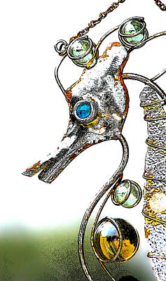 Wind Chimes Photograph - Rusted Seahorse 2 by Frank Mari