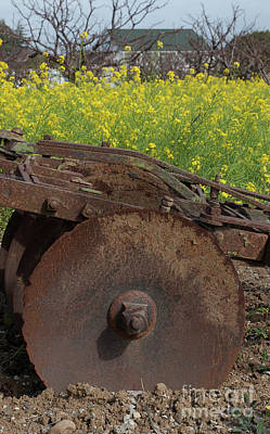 Photograph - Rusted Soil Tiller by Glenn Franco Simmons