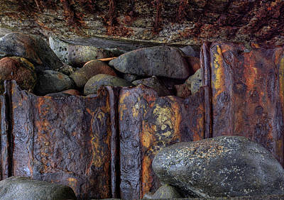 Art Print featuring the photograph Rusted Stones 3 by Steve Siri