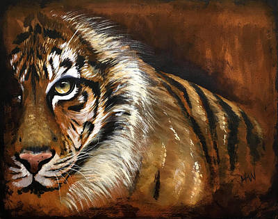 Rusted Tiger Art Print by Holly Whiting