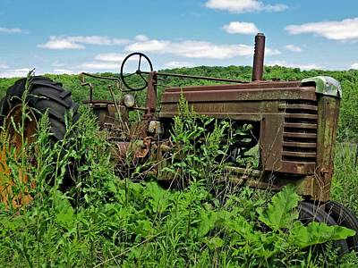 Photograph - Rusted Tractor by Kyle West