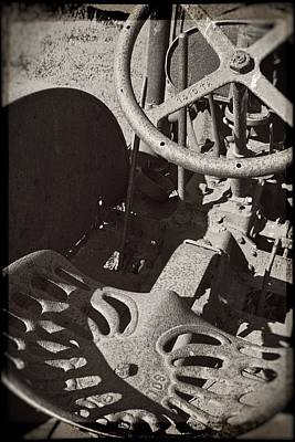 Technical Photograph - Rusted Tractor by Michelle Calkins