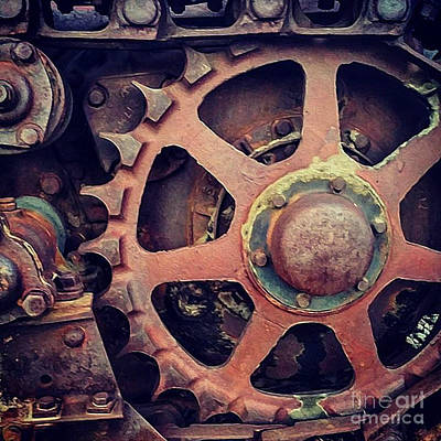 Photograph - Rusted Tractor Wheel by Gregory Dyer
