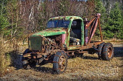Photograph - Rusted Truck by Alana Ranney