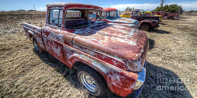 Dodge Truck Wall Art - Photograph - Rusted Truck Along Route 66 by Twenty Two North Photography