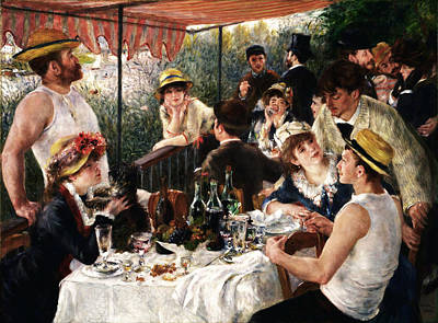 Rustic 19 Renoir Art Print by David Bridburg