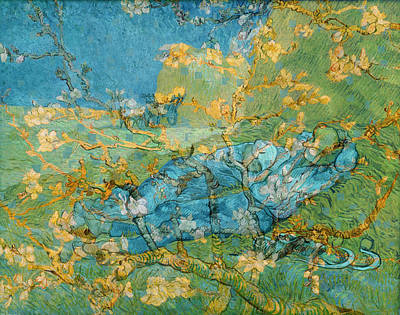 Digital Art - Rustic 6 Van Gogh by David Bridburg