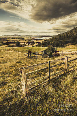Rustic And Weathered Farm View  Art Print by Jorgo Photography - Wall Art Gallery