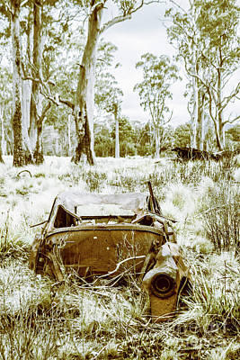 Rusty Cars Wall Art - Photograph - Rustic Australian Car Landscape by Jorgo Photography - Wall Art Gallery