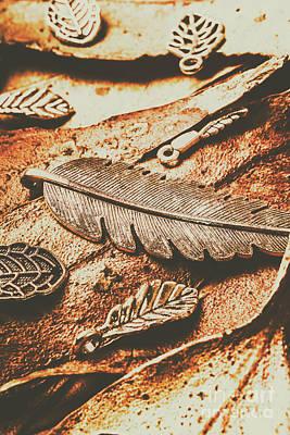 Rustic Autumn Accessories Art Print