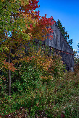 Firefighter Patents - Rustic barn above the fall colors by Jeff Folger