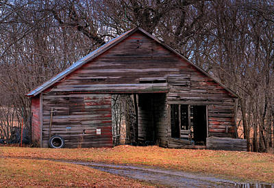 Photograph - Rustic Barn by Don Wolf