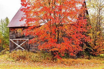 Photograph - Rustic Barn In Fall Colors by Jeff Folger