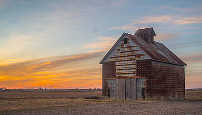 Barns Photograph - Rustic Barn Sunset  by Mark Johnson
